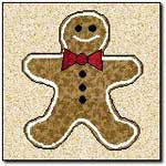 Gingerbread Man Wallhanging or Quilt Block